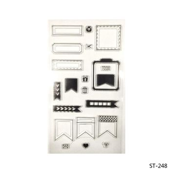 The Flag Label  Transparent Clear Silicone Stamp/seal for DIY Scrapbooking/photo Album Decorative Clear Stamp Sheets.