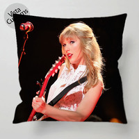 Taylor Swift Cute red pillow case, cover ( 1 or 2 Side Print With Size 16, 18, 20, 26, 30, 36 inch )