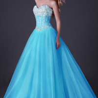 Homecoming Beaded A-line Tulle Sweatheart/Ball gown/Evening/Wedding Prom Dresses