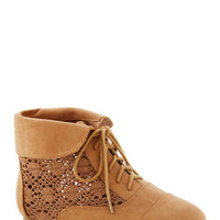 Seasons of Lovely Bootie in Caramel | Mod Retro Vintage Boots | ModCloth.com