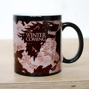 Drop shipping Game of thrones Mugs House Stark mug Winter is coming Color Changing Sensitive Ceramic coffee Tea Mug Cup