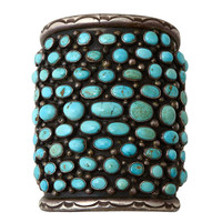 Navajo Turquoise Wide Cuff Bracelet at 1stdibs