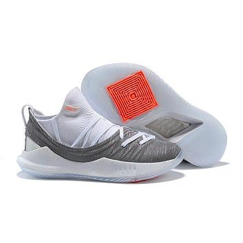 Under Armour Sc30 Stephen Curry 5 Low Gray/white Basketball Shoe   Best Deal Online