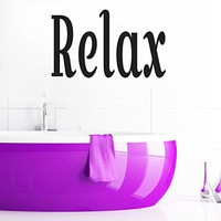 Wall Decals Quotes Vinyl Sticker Decal Quote Bathroom Relax Phrase Home Decor Bedroom Art Design Interior NS280