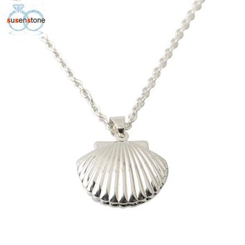 Seashell Locket Pendant