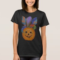 Lacy pumpkin and feathers for a Halloween costume T-Shirt