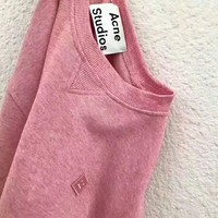 Acne Studios Couple Casual Letter Print Long Sleeve Sweatshirt Top Sweater I-AGG-CZDL