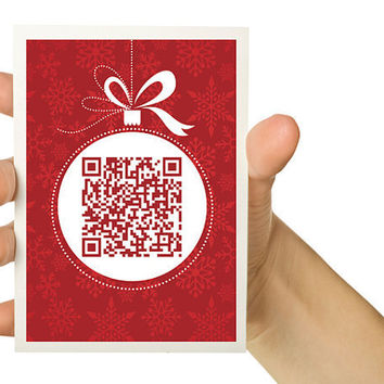 OOAK QR Code Christmas Card Personalize with your by TheWallaroo