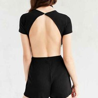 Silence + Noise Short-Sleeve Open-Back Romper