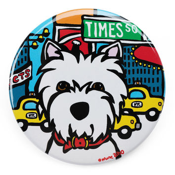 NYC Westie in Times SQ Magnet