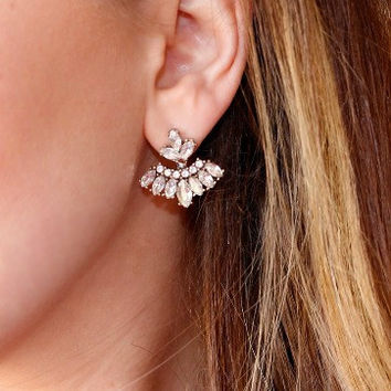 Claire Crystal Glam Drop Earrings