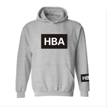HOOD BYAIR HBA Spring and Autumn Student Tide Coat Gray
