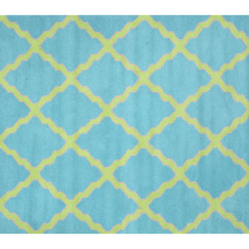 Mitty Rug, Turquoise, Area Rugs