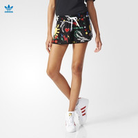 """Adidas x Pharrell Williams"" Women Sports Casual Multicolor Pattern Print Shorts Hot Pants Leisure Pants Sweatpants"
