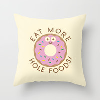 Do's and Donuts Throw Pillow by David Olenick