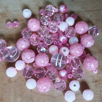 Pink Bead Lot | Bubblegum Jewelry Beads | Children's Jewelry Beads | Pink Acrylic Beads | Bubblegum Jewelry Supplies | Party Favor Jewelry