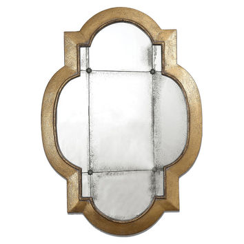 Mirrors, Norberto Wall Mirror, Antiqued Gold Leaf, Wall Mirrors