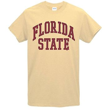 Value Priced Short Sleeve T-shirt with Arched Florida State Vegas Gold