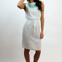 Sweet Summer Embroidery Dress - White