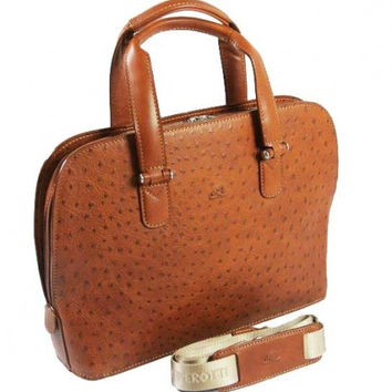 Tony Perotti Italian Vegatale leather ladies handbag TP-00490 Cognac