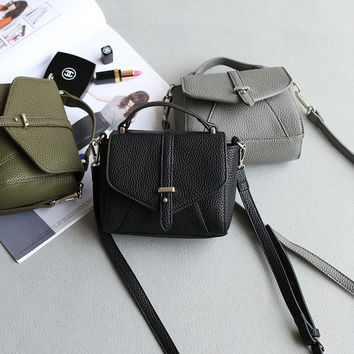 Mini Messenger Bags Simple Design Phone Vintage Shoulder Bags [4915814020]
