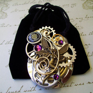 Steampunk Bag/Purse Hanger H14  Silver Plated by Friston on Etsy