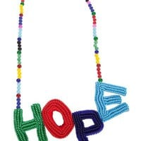 Walter Van Beirendonck Beaded Hope Necklace - Henrik Vibskov Boutique - farfetch.com