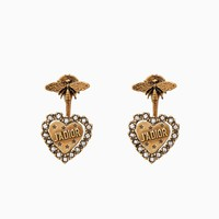 """L'Amour Avenir"" earrings in gold-tone aged metal - Dior"
