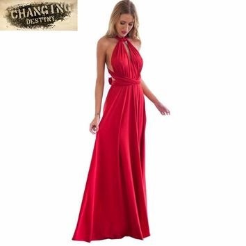 Summer Sexy Dress Women Beach Long Bandage Multiway Convertible Dresses Infinity Wrap Robe Euramerican Dress Wrap Vestido