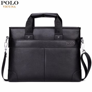 High Quality PU Leather Briefcase / Classic Business Leather Handbag