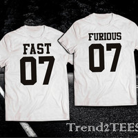 Fast and Furious 7 T-shirts couple
