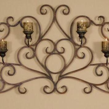 Wall Sconce - Hand Forged Metal