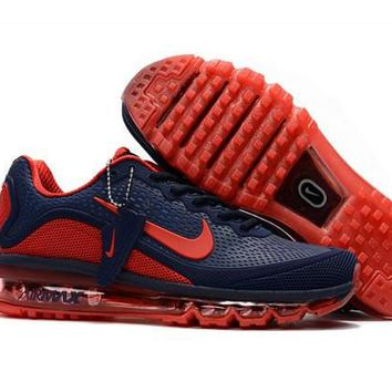 Nike Air Max 2017. 5 KPU Navy, Blue & Red Men's Running Shoes Sneakers