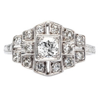 Classic .25 Carat Diamond Platinum Engagement Ring