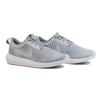 AUGUAU NIKE Roshe Two Flyknit - Wolf Grey/Stadium Green/White