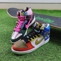 ONETOW Best Onlie Sale Nike SB Dunk High What The Doernbecher Sneaker Skateboard Shoes