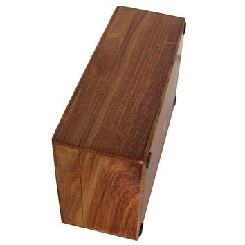 Brown Tissue Box Cover Holder Or Napkin Dispenser Handmade In Mango Wood By Benzara