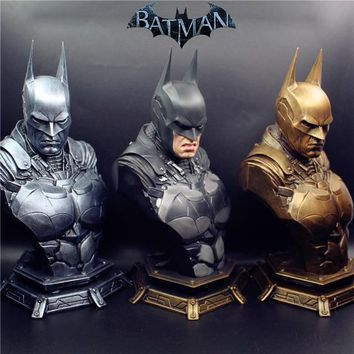 Batman Dark Knight gift Christmas Resin Bust Statue Recast With 3pcs replaced heads 1/3 Scale Super Hero Batman Dawn of Justice Batman AT_71_6