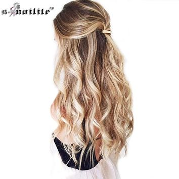 24inch 8pcs/set curly 18 Clips in False Hair Styling Synthetic Hair Extensions Hairpiece Cosplay Extension for Human