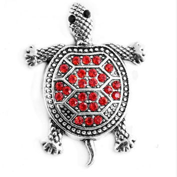 Metal Rhinestone Turtle Snap 20mm for Snap Jewelry