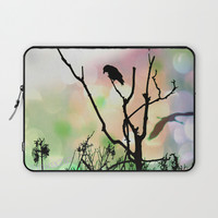 The Lonely Crow At Sunset Laptop Sleeve by minx267