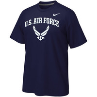 Air Force Falcons Nike Classic Cotton T-Shirt – Navy Blue