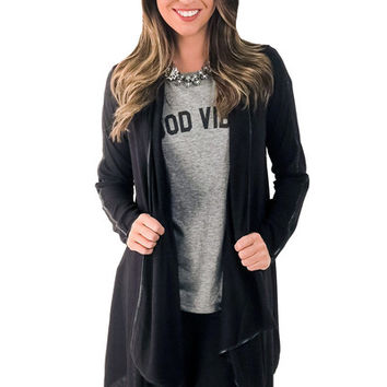 All I Need Cardigan- Black | MACA Boutique