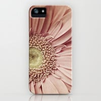 iPhone 5 Case - Flower Macro Photograph iPhone 5 cover- light pink Gerbera Daisy floral garden girly femine yellow muted pastel petals Love