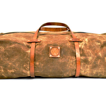 The Hudson Waxed Canvas Duffle Bag