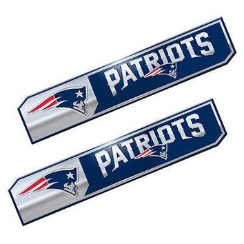Licensed Official NFL New England Patriots Premium Vinyl Decal / Sticker / Emblem - Pick Your Pack