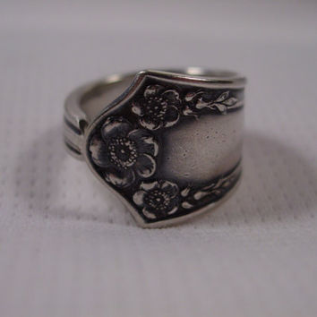 A Spoon Rings Plus Unpolished Pretty Spoon Ring, Any Size 5 and Up Handmade Fork and Spoon Jewelry t611