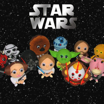 "Quilling. A collection ""Star Wars"" of 12 toys-souvenirs. Characters of the film ""Star Wars"""