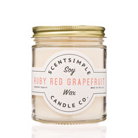 Ruby Red Grapefruit Scented Soy Wax Candle