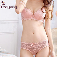 Teayang Hot Women Sexy Lace Underwear Suit Bra Sets Embroidery Lingerie Push Up Bra Sets